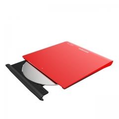 Grabadora Externa Samsung Se-208Gb-Rsrd - Ultra Slim Pc Y Mac Roja