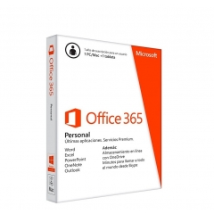 MICROSOFT OFFICE 365 PERSONAL 1 USUARIO 1 AÑO - WORD - EXCEL - POWERPOINT - ONENOTE - OUTLOOK
