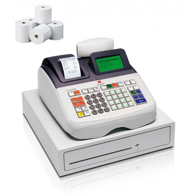 50f2f21e3d37 Caja Registradora Olivetti ECR 8200S + 10 Rollos Papel - Mundo ...