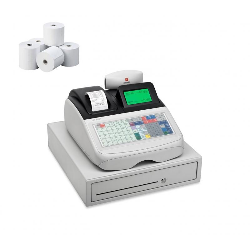 862a64c6216e Caja Registradora Olivetti ECR 8220S + 10 Rollos Papel - Mundo ...