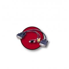 Cable Vga 1Xvga Hd15M - 1Xhd15M + 3Xrca Hembra