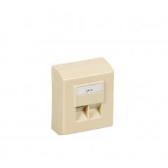 Caja Superficie Stp 1Xrj45 Cat 5E Lsa+ Marfil