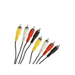 Cable Conexion Rca 4Xrca Macho - 4Xrca Macho 3.00 Metros