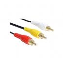 Cable Conexion 3Xrca Macho - Macho 10.00 Metros Alta Calidad