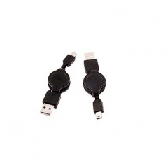 Cable Usb 2.0 Retractil Tipo A-Macho - Tipo Mini B-Macho (5Pines) 0.80 Metros