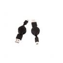 Cable Usb 2.0 Retractil Tipo A-Macho - Tipo Mini B-Macho (5Pines) 0.80 Metros