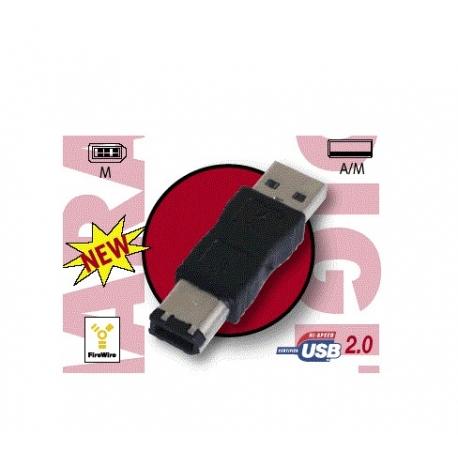ADAPTADOR USB 2.0 TIPO A MACHO - TIPO IEEE 1394 MACHO (6PINES)