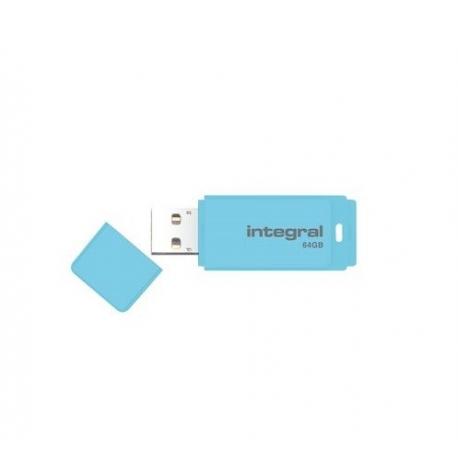 PENDRIVE INTEGRAL PASTEL INFD64GBPASBLS - 64GB - USB 2.0 - COMPATIBLE PC Y MAC - BLUE SKY