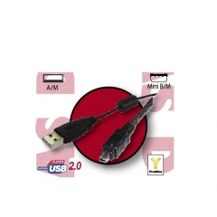 Cable Usb 2.0 Tipo A-Macho - Ieee 1394 Macho + Ferrita 0.60 Metros