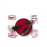 CABLE USB 2.0 TIPO A/MACHO - IEEE 1394 MACHO + FERRITA 0.60 METROS