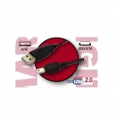 Cable Usb 2.0 Tipo A-Macho - Mini B-Macho (5Pines) 0.60 Metros