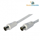 Cable Antena Coaxial Blanco Macho-Hembra 3.00 Mt
