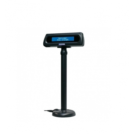 VISOR TPV GLANCETRON 8035 LCD 2X20 USB 600CD/M2 FONDO AZUL ALFANUMERICO ANGULO AJUSTABLE NEGRO