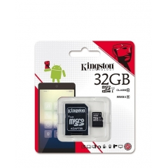 MICRO SD HC 32GB KINGSTON CLASE 10 45MB/S + ADAPTADOR