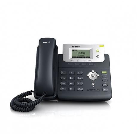 TELEFONO IP YEALINK SIP-T21 2 LINEAS SIP + NEGRO (CON F.A.)