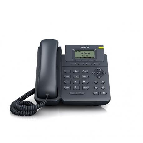 TELEFONO IP YEALINK SIP-T19P 1 LINEA SIP + POE + NEGRO (CON F.A.)