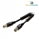 Cable Antena Coaxial Negro M-H Ferrita 10.00 Mt