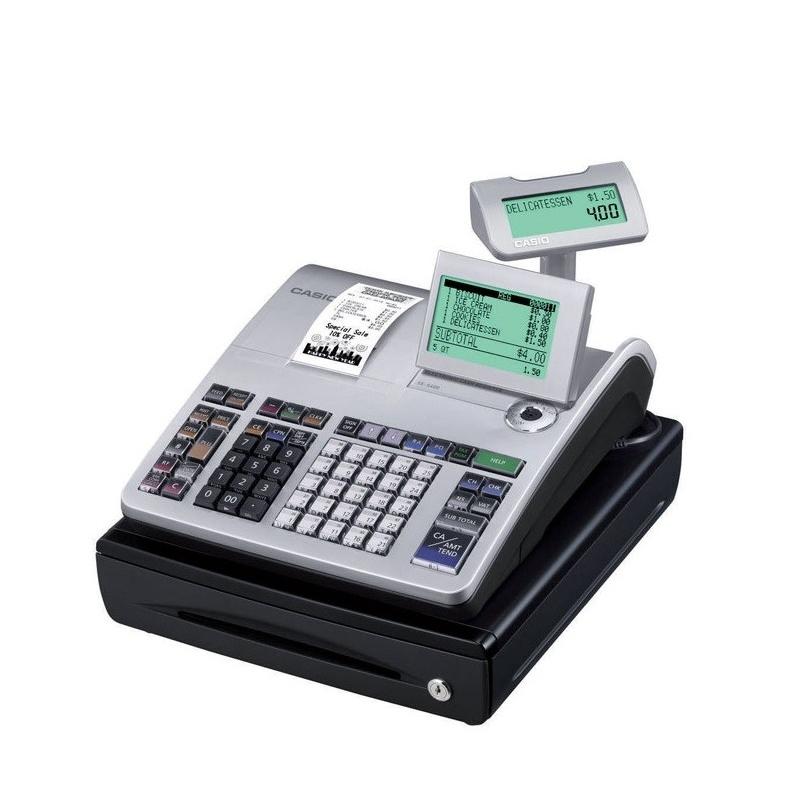 f8da46e547c4 Caja Registradora Casio SE-S400 Plata - Mundo Consumible Tienda ...
