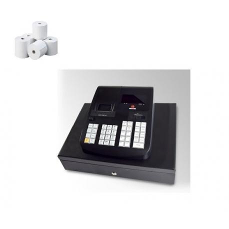 Caja Registradora Olivetti Ecr 7790 LD Alfanumerica (Registradora + 10 Rollos Papel)