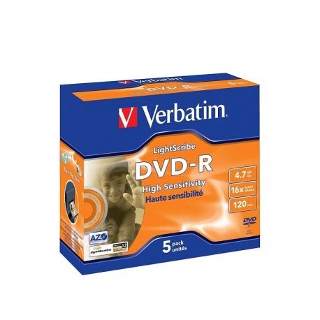Verbatim DVD-R Pack 5 Lightscribe 4.7GB 16X