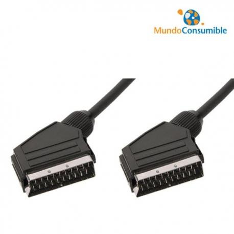 CABLE EUROCONECTOR MACHO/MACHO 21PINES 3.00 METROS