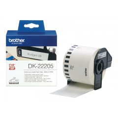 Cinta Brother QL Rollo Papel Continuo 62mm x 30.48 Metros