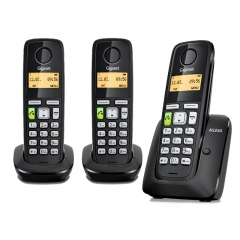 Gigaset AS350 Trio - Telefono Inalambrico Negro