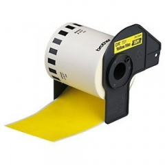 Cinta Brother DK-446056 QL Rollo Papel Continuo Amarillo Removible 62mm x 30.48 Metros Generico