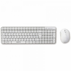 Approx Kit Teclado Raton Inalambrico 2.4Ghz Blanco APPKBWCOMPACT