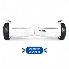 Hoverboard Nilox Doc 2 Plus Rueda 6.5'' Blanco Altavoz