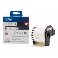 Brother DK-22251 - Papel Cotinuo Negro / Rojo 62mm