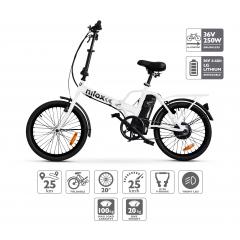Nilox Doc E-Bike X1 Bicicleta Electrica Plegable Blanca