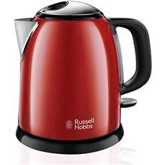 Russell Hobbs Colors Plus Hervidor Agua Electrico 2400W 1 Litro Acero Rojo