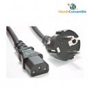 Cable Alimentacion Iec - Schuko 2Metros
