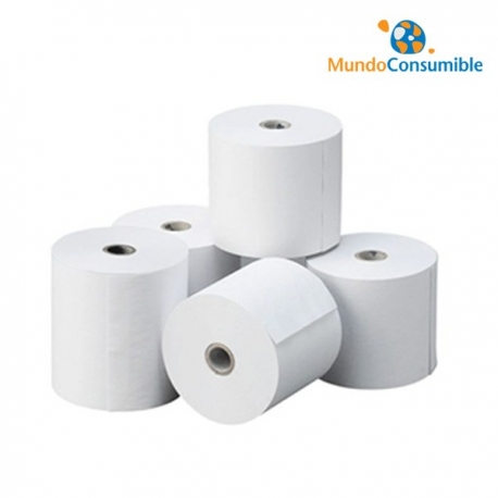 ROLLO DE PAPEL TERMICO 80X65mm (PACK 80)