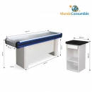 Mueble Caja 200X51X89 Cm Azul - Rojo + Caja De Pago