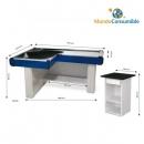 Mueble Caja 170X101X17X8 Azul - Rojo + Caja De Pago