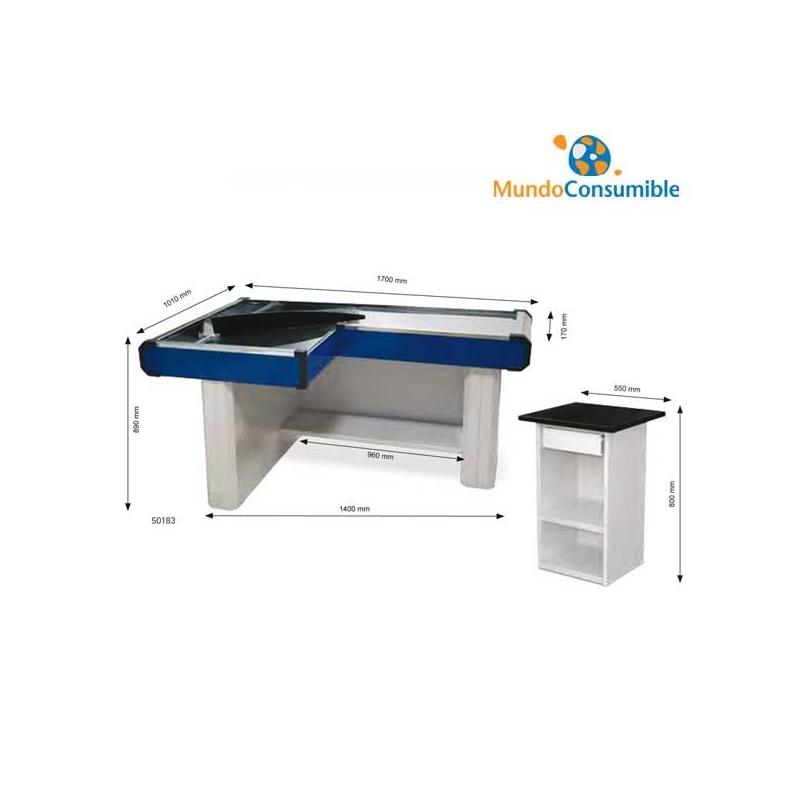 Mueble caja 170x101x17x8 azul rojo caja de pago for Mundo mueble catalogo