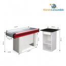 Mueble Caja 115X51X89 Cm Azul - Rojo + Caja De Pago