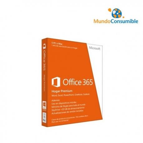MICROSOFT OFFICE 365 HOGAR PREMIUM - 5 LICENCIAS - INSTALACION EN PC/MAC/SMARTPHONE - SUSCRIPCION AN