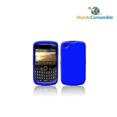 FUNDA SILICONA BLACKBERRY 8520 AZUL - ORIGINAL